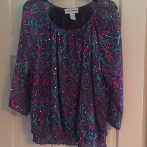 Sparkling top by Cathy Daniels